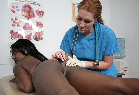 Not ebony girl gyno exam